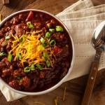44684141 - homemade organic vegetarian chili with beans and cheese