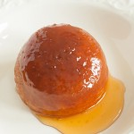47213987 - steamed golden syrup sponge pudding
