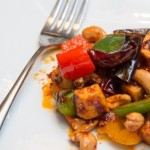 60341306 - thai stir fry spices tofu with cashew nuts and pepper