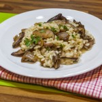 62396808 - wild mushroom risotto with herbs and parmesan